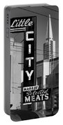 Little City Market North Beach San Francisco Bw Portable Battery Charger