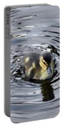 Little Duckling Goes For A Swim Portable Battery Charger