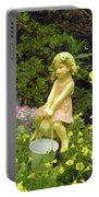 Little Girl With Pail Portable Battery Charger