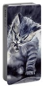 Little Grey Cat Portable Battery Charger
