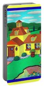 Little House On The Green Portable Battery Charger by Snake Jagger
