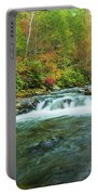 Little Pigeon River Flows In Autumn In The Smoky Mountains Portable Battery Charger