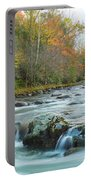 Little Pigeon River Great Smoky Mountains National Park In Fall Portable Battery Charger