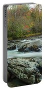 Little Pigeon River In Autumn In Smoky Mountains In Autumn Portable Battery Charger