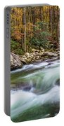 Little Pigeon River In Fall In The Smokies Portable Battery Charger
