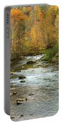 Little Pigeon River In Fall Smoky Mountains National Park Portable Battery Charger