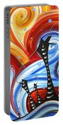 Little Village By Madart Portable Battery Charger by Megan Duncanson