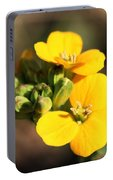 Little Yellow Flowers Portable Battery Charger