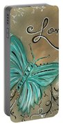 Live And Love Butterfly By Madart Portable Battery Charger