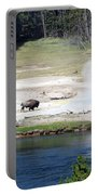 Live Dream Own Yellowstone Park Bison Text Portable Battery Charger