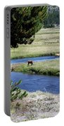 Live Dream Own Yellowstone Park Elk Herd Text Portable Battery Charger