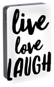 Live Love Laugh Portable Battery Charger