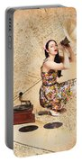 Live Music Pinup Singer Performing On Gig Guide Portable Battery Charger