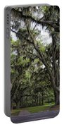 Live Oak And Spanis Moss Landscape Portable Battery Charger