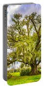 Live Oak And Spanish Moss 2 - Paint Portable Battery Charger
