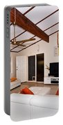 Living Room With Sloping Ceiling Portable Battery Charger
