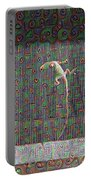 Lizard On A Screen Porch Portable Battery Charger