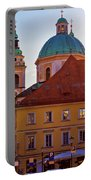 Ljubljana Church And Square Sunset View Portable Battery Charger