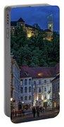 Ljubljana Night Scene - Slovenia Portable Battery Charger