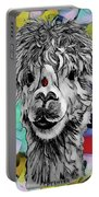 Llama And Lady In Splash Portable Battery Charger