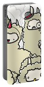 Llama Doodle Portable Battery Charger