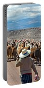 Llama Herd On Road Portable Battery Charger