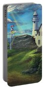Lobster Cove Head Lighthouse, Rocky Harbour, Nl Portable Battery Charger