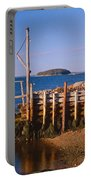Lobster Village In Autumn, Stonington Portable Battery Charger