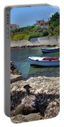 Local Boats In Harbour Portable Battery Charger