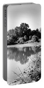 Lodi Pig Lake Reflections B And W Portable Battery Charger