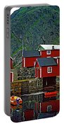Lofoten Fishing Huts Oil Portable Battery Charger