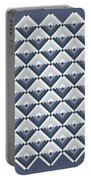 Log Cabin Blues Quilt Portable Battery Charger