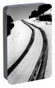 Logging Road In Winter Portable Battery Charger
