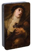 Lombard School, 17th Century Saint Catherine Of Siena Portable Battery Charger