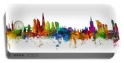London And Warsaw Skylines Mashup Portable Battery Charger