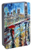 London Rainy Evening Portable Battery Charger