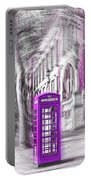 London Telephone Purple Portable Battery Charger