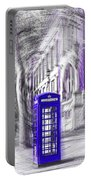 London Telephone Purple Blue Portable Battery Charger