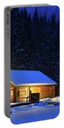 Lone Cabin In The Rockies Portable Battery Charger