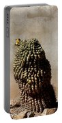 Lone Cactus In Sepia Tone Portable Battery Charger