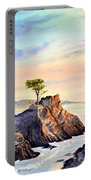 Lone Cypress Tree Pebble Beach Portable Battery Charger