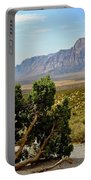 Lone Juniper At Red Rock Portable Battery Charger