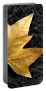 Lone Leaf Portable Battery Charger by Carlos Caetano