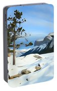 Lone Pines On Lakeshore Portable Battery Charger