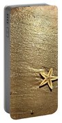 Lone Starfish On The Beach Portable Battery Charger
