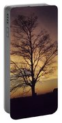 Lone Tree At Sunrise Portable Battery Charger