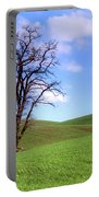 Lone Tree - Rolling Hills - Summer Sky Portable Battery Charger