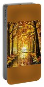 Long Before Winter - Palette Knife Oil Painting On Canvas By Leonid Afremov Portable Battery Charger
