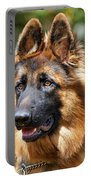 Long Coated German Shepherd Dog Portable Battery Charger
