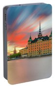 Long Exposure Stockholm Sunset Portable Battery Charger